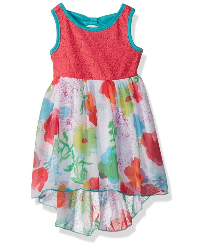Youngland Girls Toddler Floral High Low