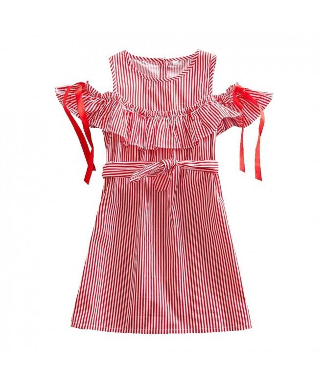 JUXINSU Dresses Stripes Fashion Sleeves