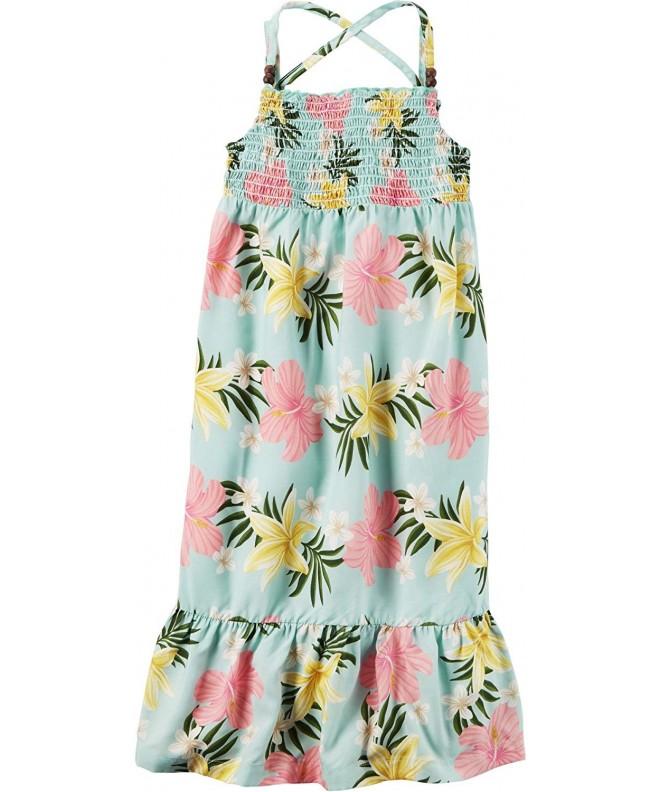 Carters Girls Floral Poplin Dress