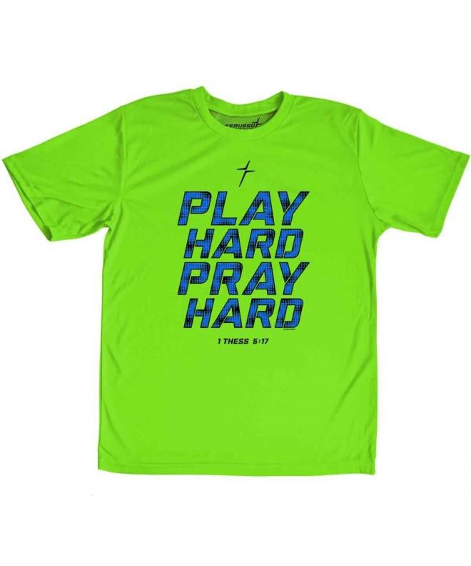 Kerusso Play Hard Pray Active T Shirt Large