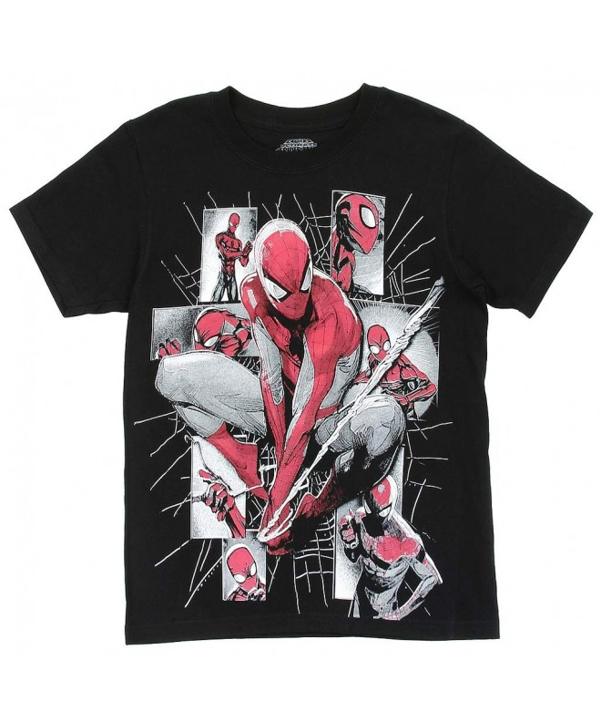 Spiderman Marvel Little Collage Black