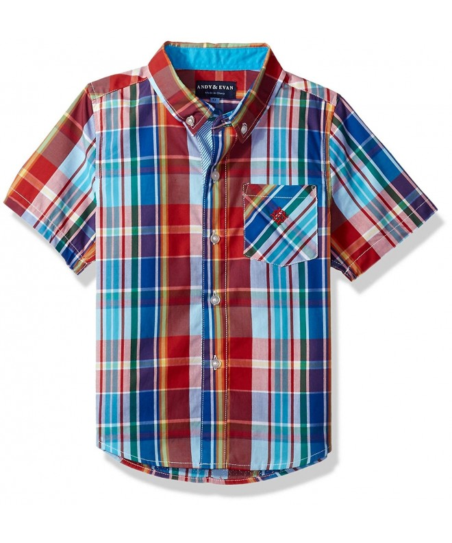 Andy Evan Madras Button Down Shirt Toddler
