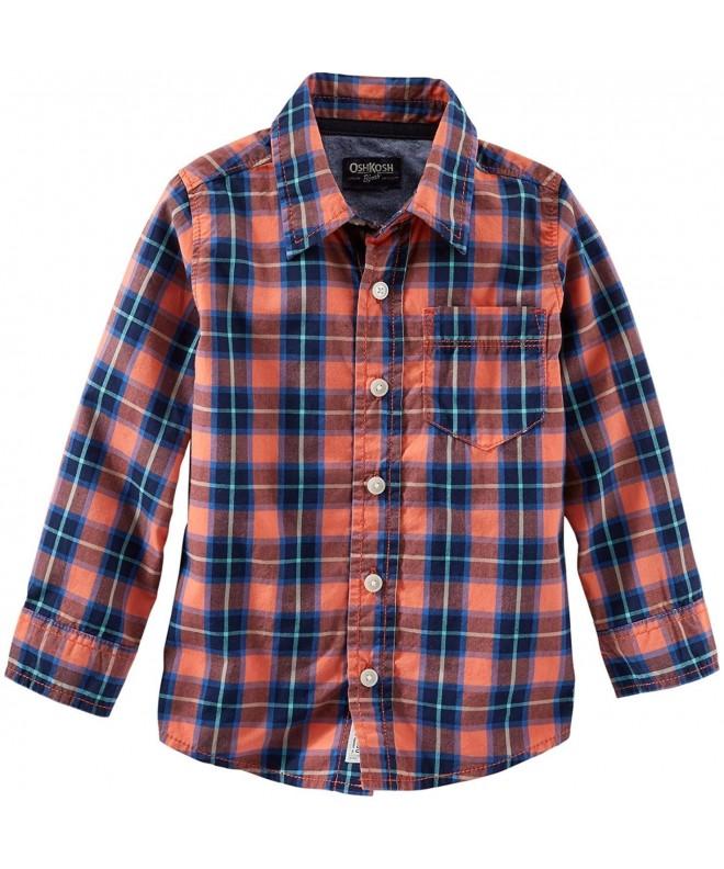 Carters Woven Plaid Shirt 443g125