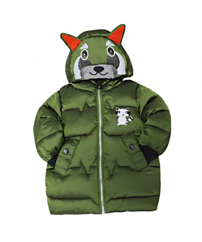 Keruishu Hooded Padded Coats Winter