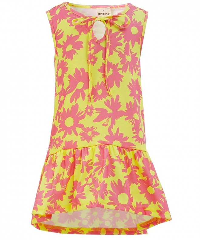 SPEINY Little Girls Floral Yellow