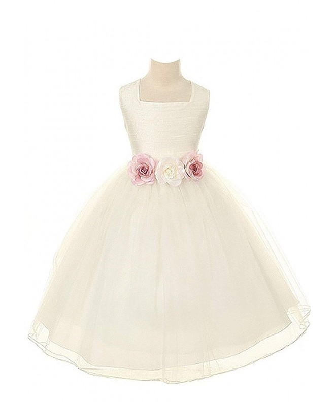Kids Dream Dupioni Flower Dress