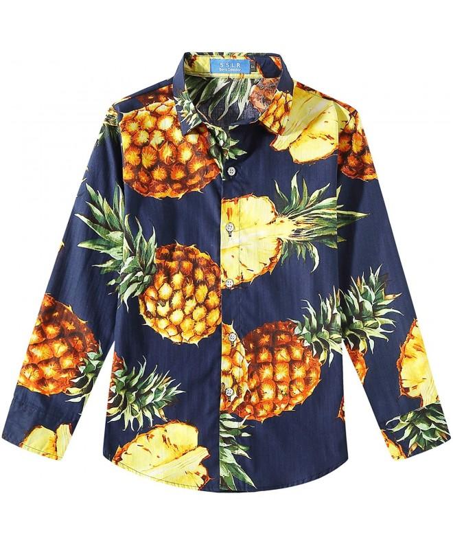 SSLR Pineapple Button Cotton Hawaiian