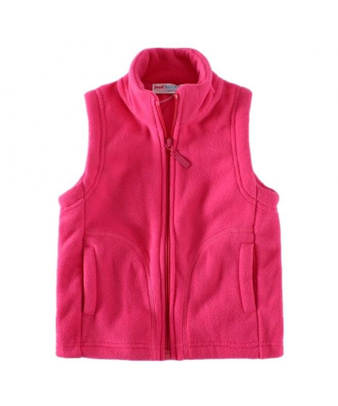 LittleSpring Fleece Vests Zipper Solid