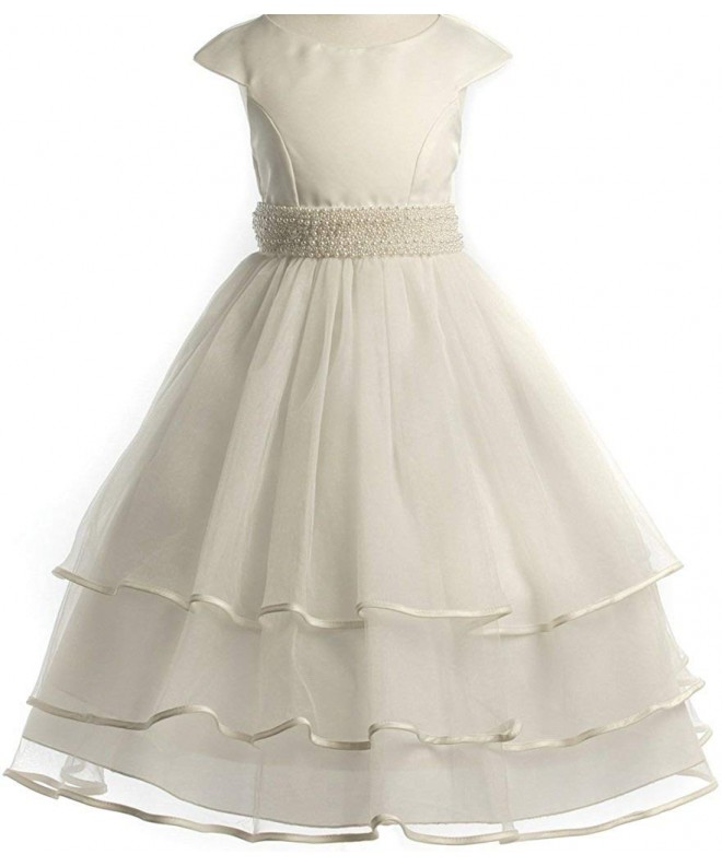 Little Accented Communion Flowers Dresses
