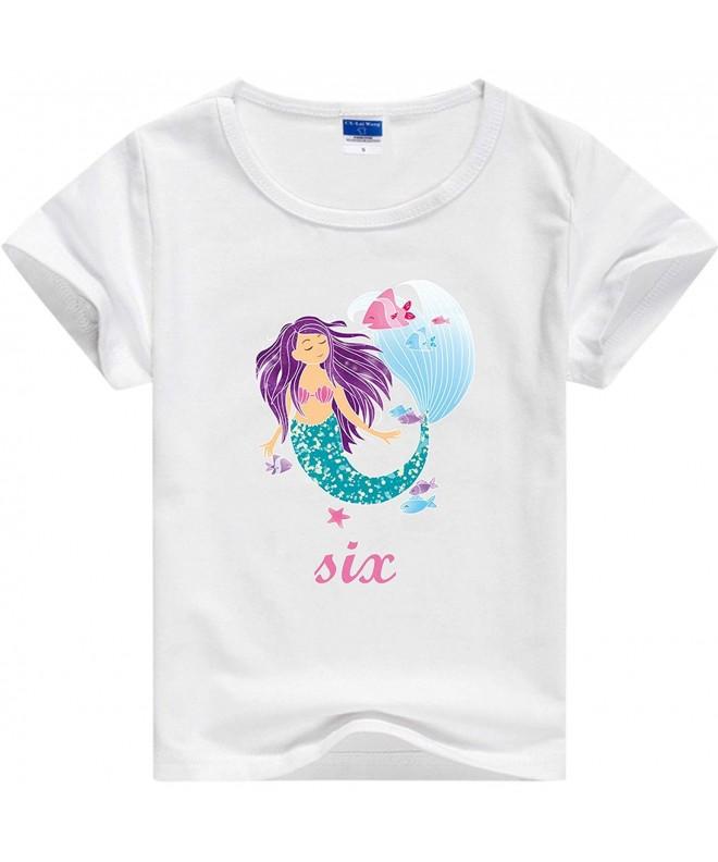 Girls Mermaid Birthday Party Tshirt