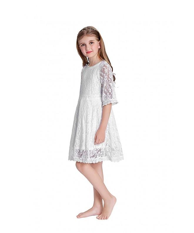 Danna Belle Little Girls White
