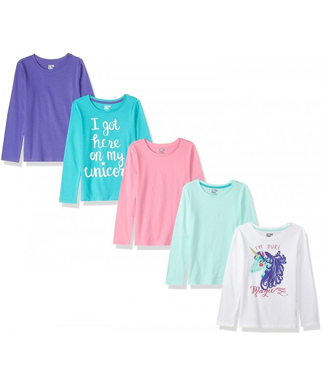 Spotted Zebra 5 pack Long sleeve T shirts