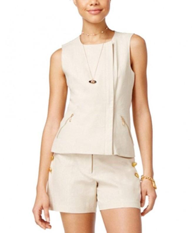 XOXO Juniors Linen Blend Vest