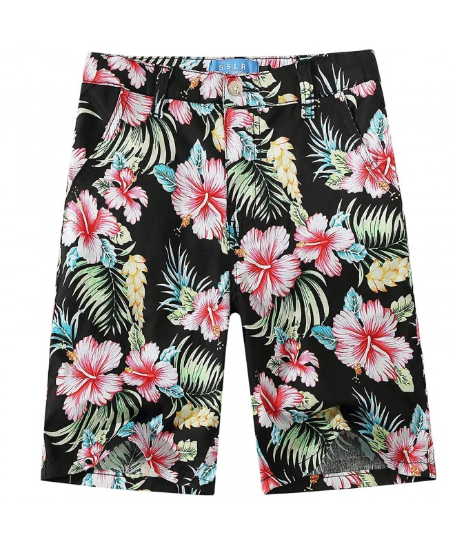 SSLR Hibiscus Cotton Fitted Hawaiian