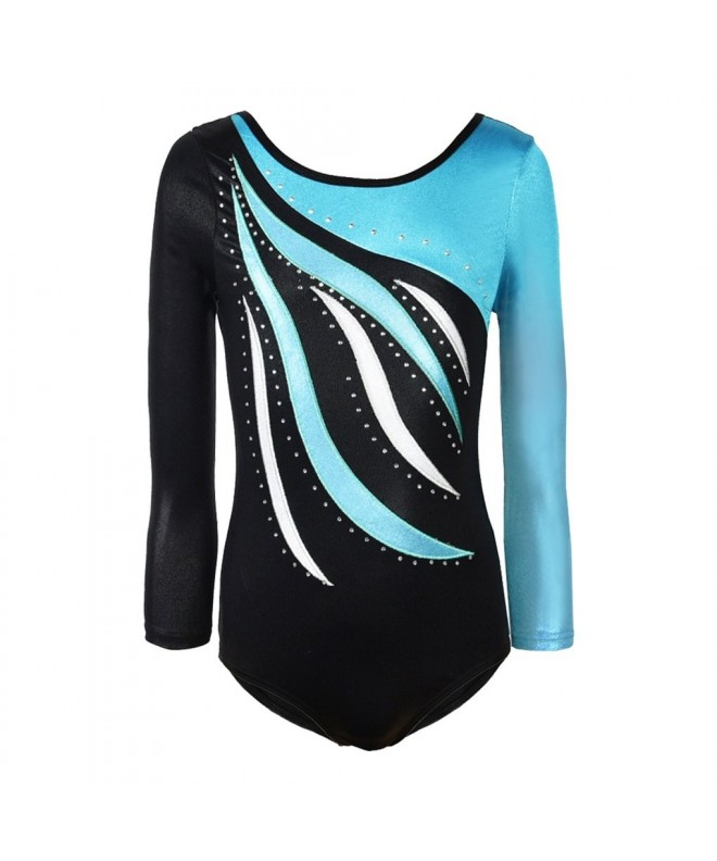 Sleeve Metallic Athletic Gymnastics Leotard