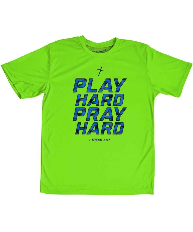 Kerusso Play Hard Pray Active T Shirt Medium