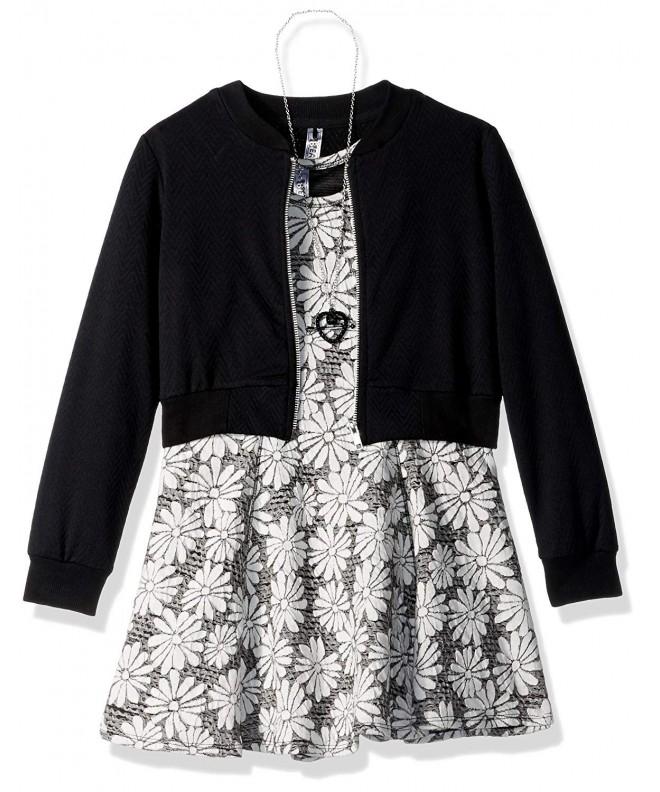 Beautees Girls Jacket Daisy Print