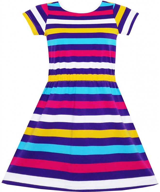Sunny Fashion Colorful Striped Knitted