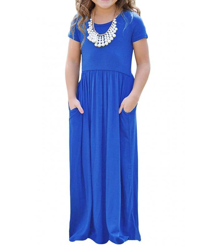 Girls Dresses Casual Sleeve Pocket