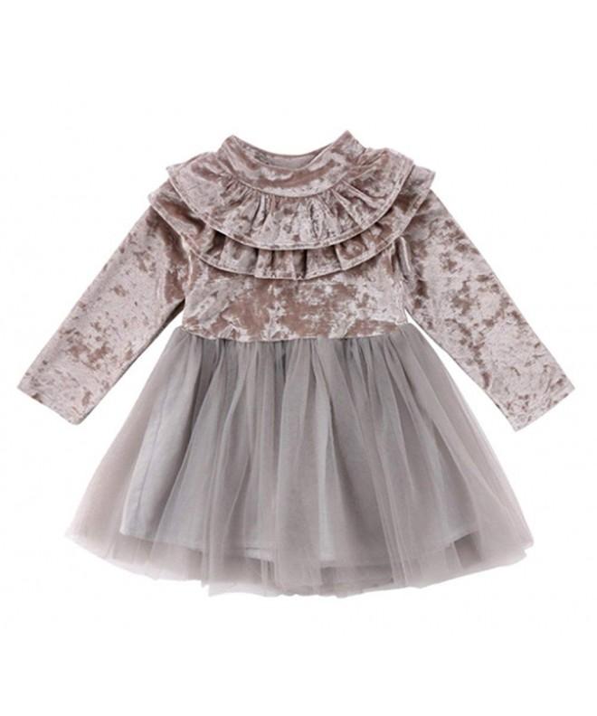 stylesilove Little Sleeve Ruffle Velvet
