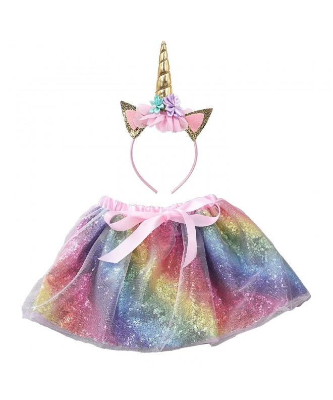 Sequin Layered Rainbow Unicorn Headband
