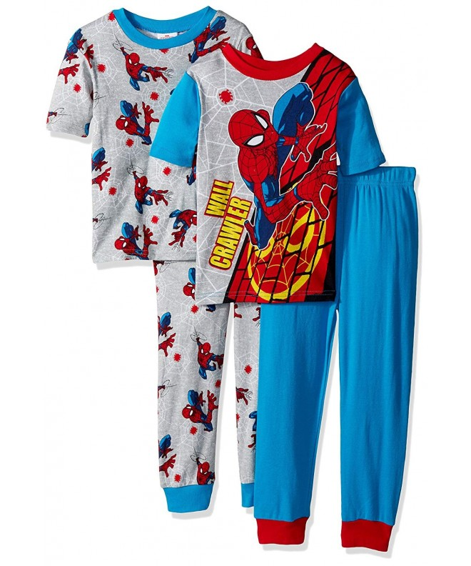 Spiderman Boys 4 Piece Cotton Pajama