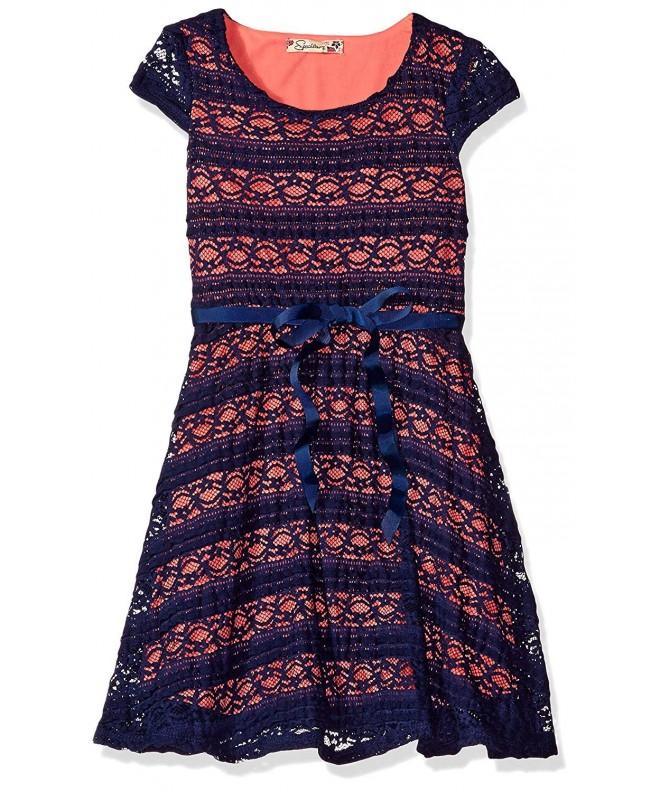 Speechless Girls Lace Scoop Dress