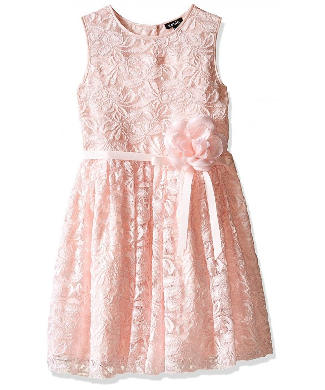 Zunie Little Girls Dress Ribbon