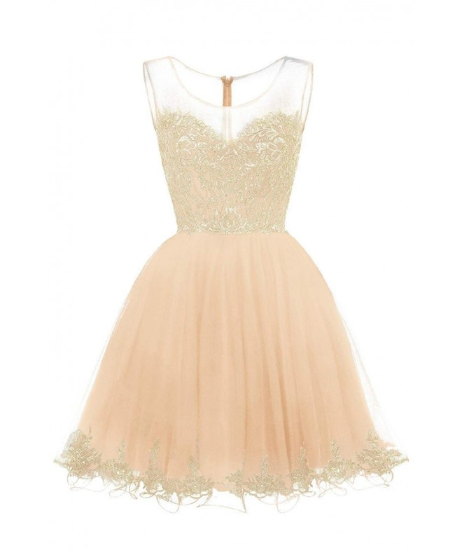WDING Short Homecoming Dresses Appliques