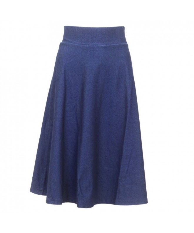 Kikiriki Stretch Line Skirt Denim