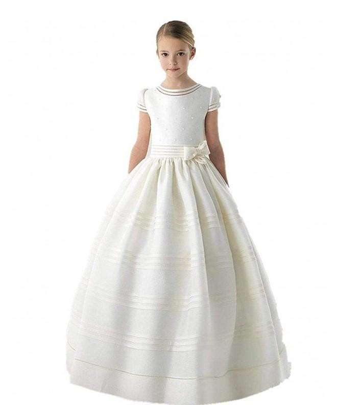 Graceprom Sleeves Communion Dresses Flower