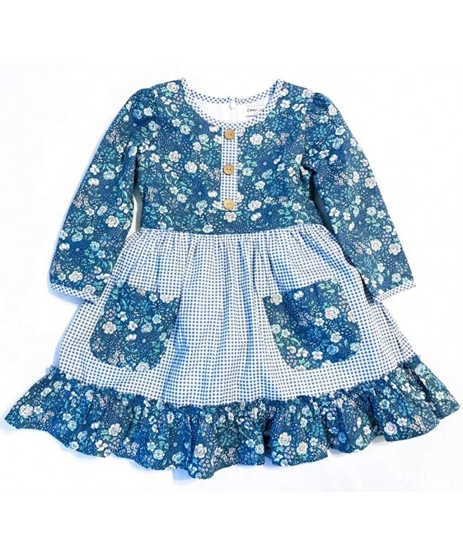 Emma Latte Floral Gingham Cotton