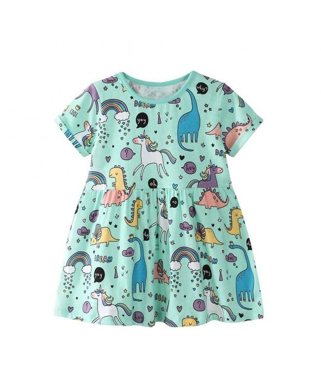 Baorong Summer Little Cartoon Dresses