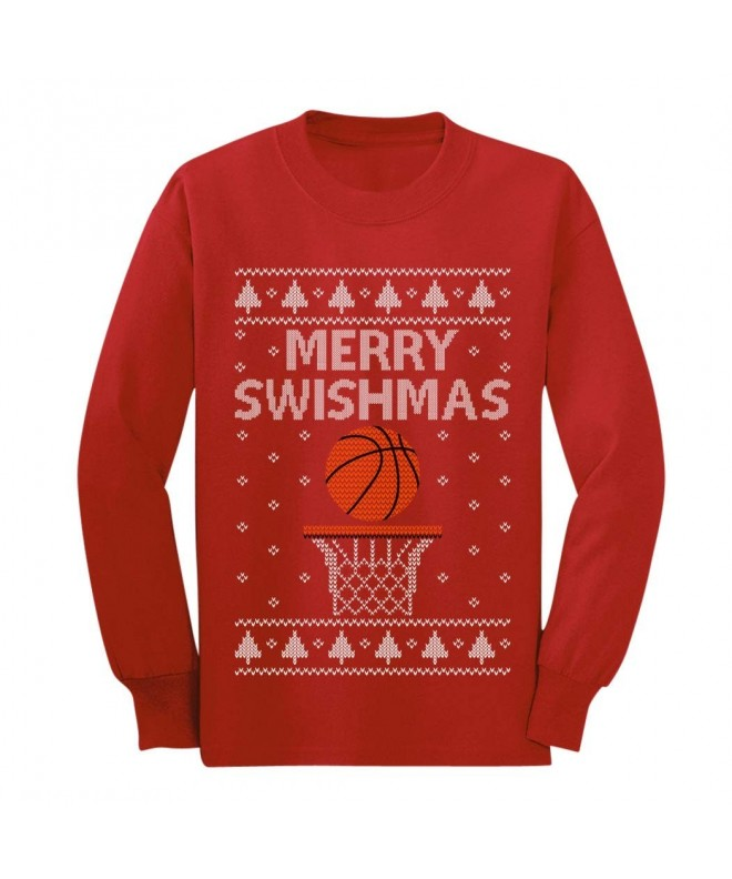 Swishmas Basketball Christmas Sweater T Shirt