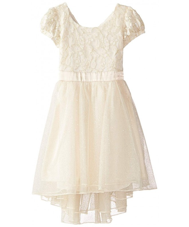Speechless Little Girls Puff Sleeve Dress
