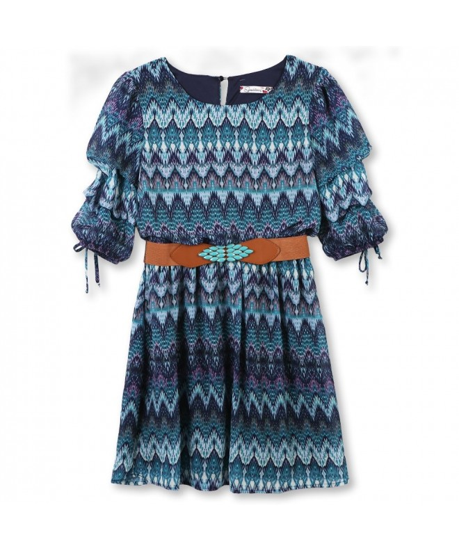 Speechless Girls Tiered Sleeve Belted