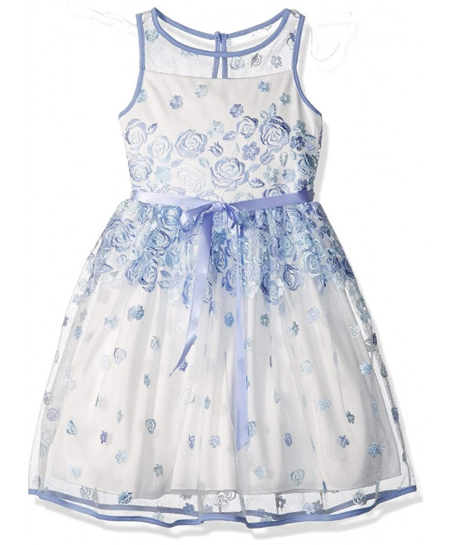 Speechless Girls Embroidered Border Dress