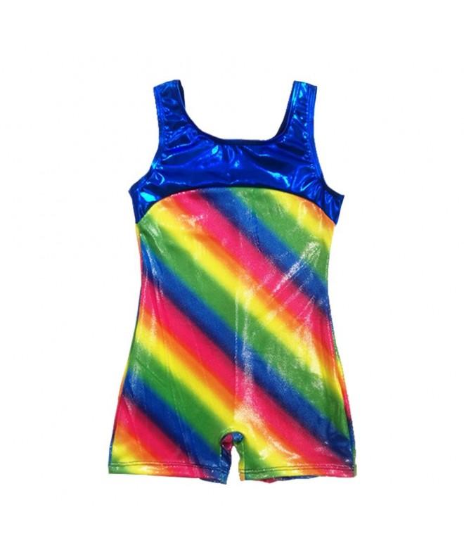Rainbow Gymnastics Biketard Sparkle Athletic