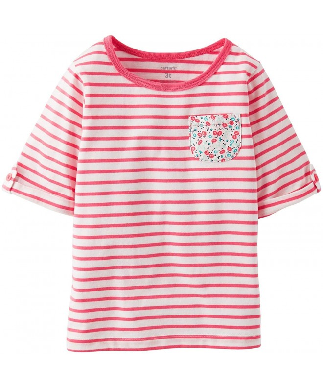 Carters Girls Sleeve Striped Pocket