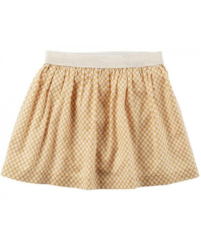 Carters Girls Metallic Geometric Skirt