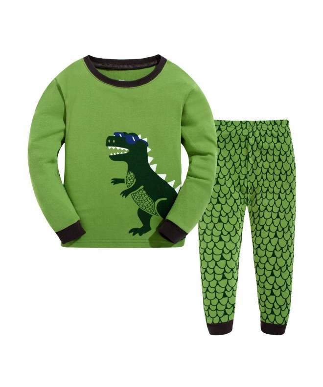 Masonanic Children Pajamas Dinosaur Sleepwear