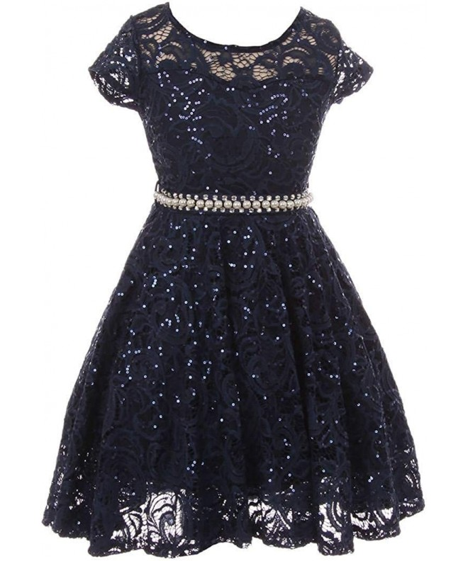 Sleeve Glitter Skater Special Occasion