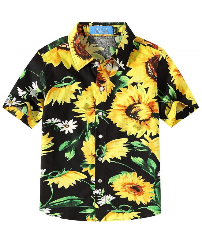 SSLR Sunflowers Button Casual Hawaiian