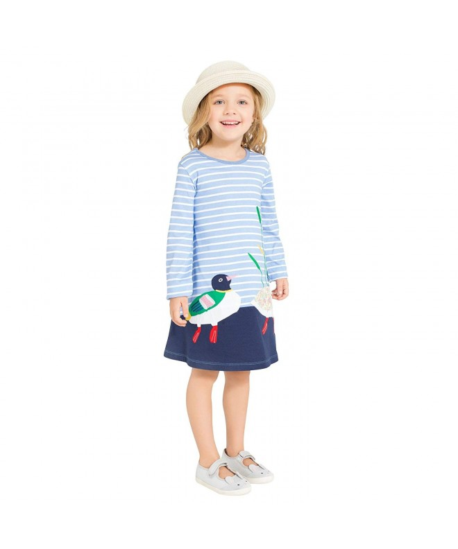 Toddler Printed Dresses Cartoon Clothes