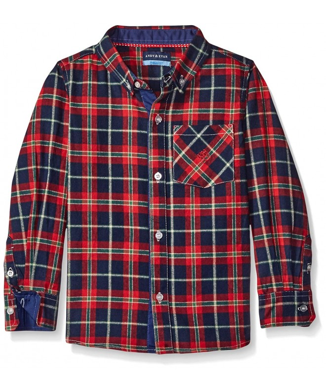 Andy Evan Holiday Flannel Button