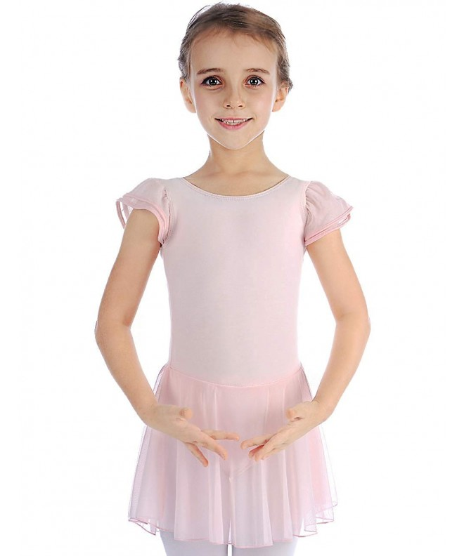 MDNME Girls Flutter Sleeve Leotard