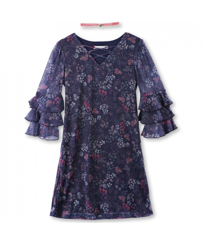 Speechless Girls Sleeve Glitter Dress