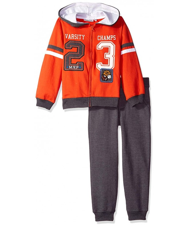 Kids Headquarters Pieces Hooded Set orange