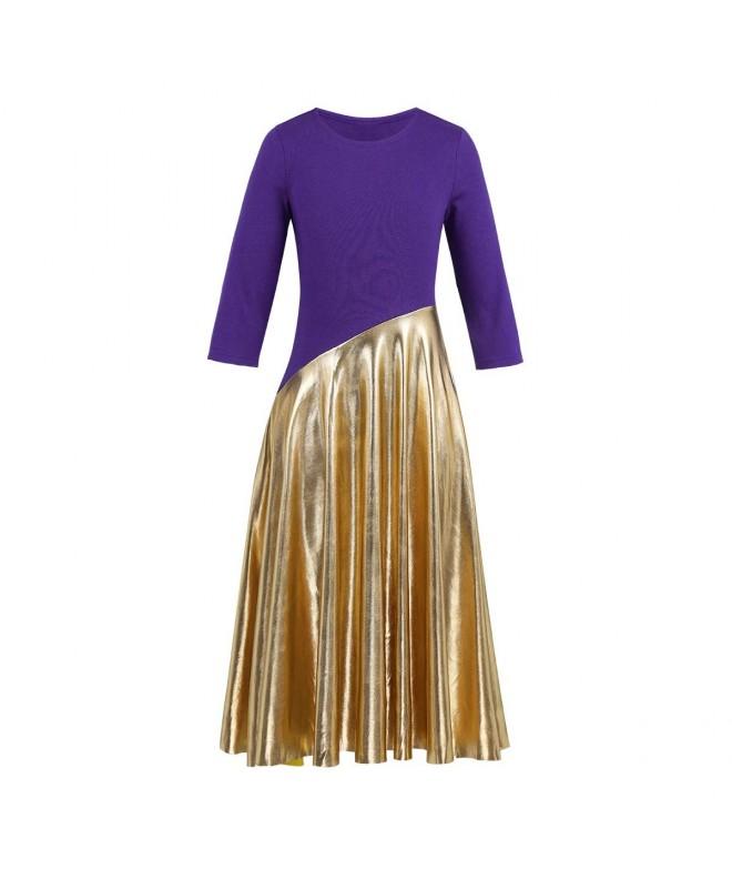 TiaoBug Worship Metallic Praise Dancewear