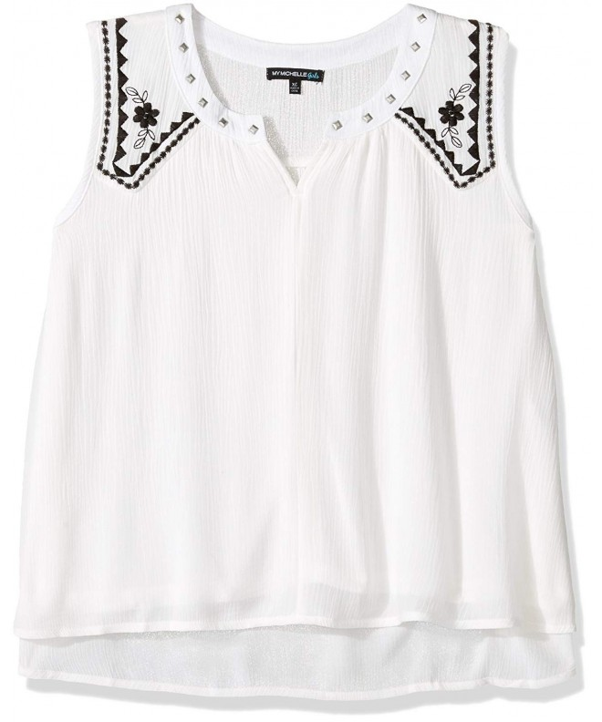My Michelle Girls Embroidered Sleeveless